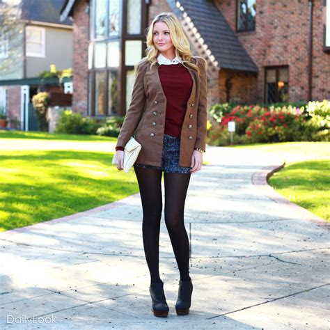 Preppy Chic Trendy Tweed Look   DAILYLOOK