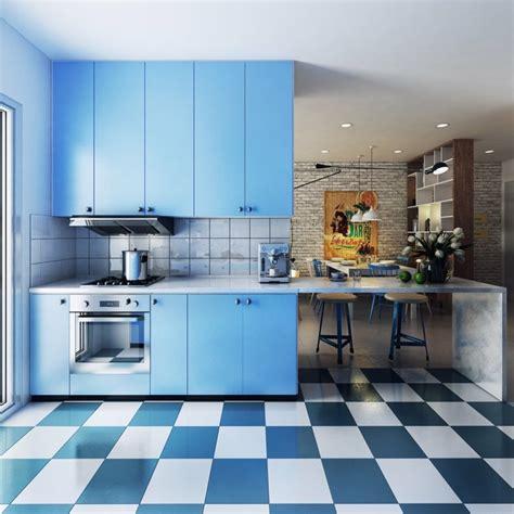 cuisine bleu ciel d 233 co style scandinave de 10 appartements d architecte