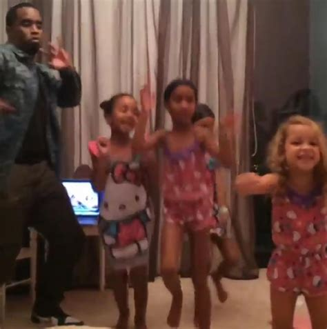 Diddy Getting Dances by Diddy Dances To Beyonce Song With Daughters At Birthday