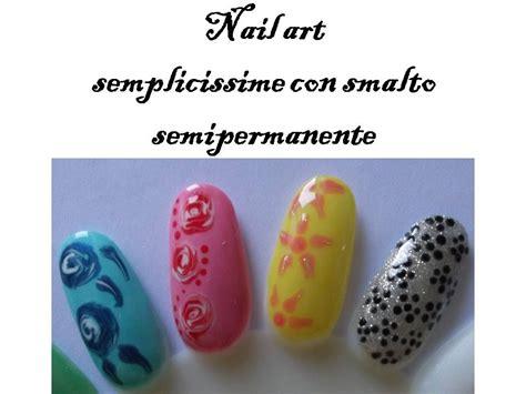 nail fiori facili nail facili con smalto semipermanente fiori