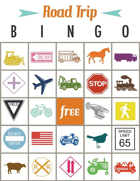 printable road free printable road trip bingo from laura at print your