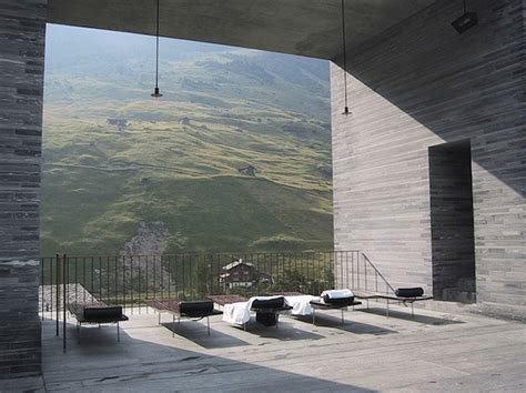 peter zumthor buildings and thermal baths in vals by peter zumthor video