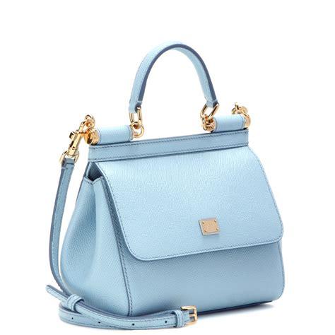 Dolce And Gabbana Clamshell Shoulder Bag by Dolce Gabbana Miss Sicily Mini Leather Shoulder Bag In