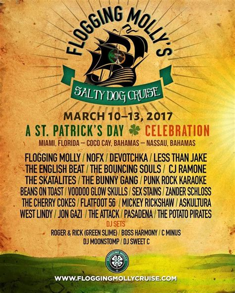 salty cruise flogging molly s salty cruise lineup announced readjunk
