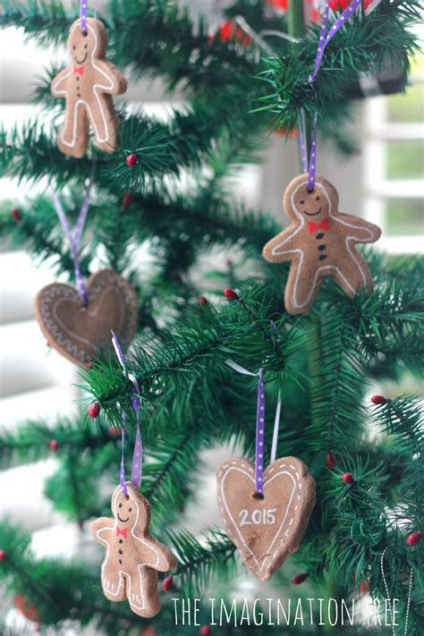 gingerbread clay recipe  ornaments  imagination tree