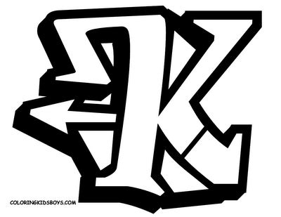Letter K Sketches by Graffiti Alphabet Letter K Sketches