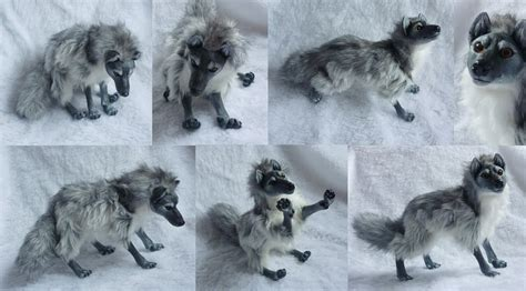 doll wolf silver grey wolf doll by goiku on deviantart