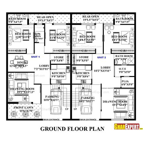 home design 50 sq ft architectural plans naksha commercial and residential