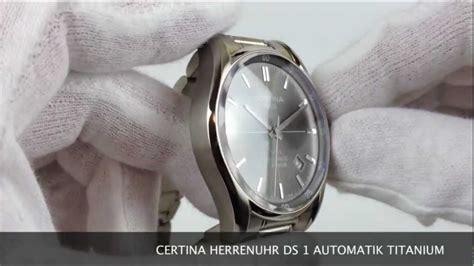certina ds 1 automatik titanium c006 407 44 081 00 www