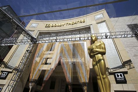 The Oscars Ceremony Begins by Oscars 2016 Preparations Begin Outside Dolby Theatre