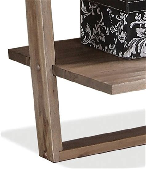 riverside furniture lean living leaning bookcase in smoky driftwood leaning living desk wall in smoky driftwood by riverside
