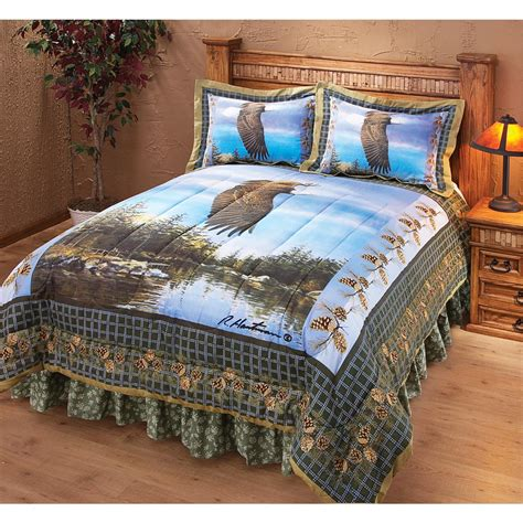 eagles bed set quot soaring eagle quot hautman 174 comforter set 146989