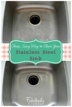 how to clean stainless steel sink with baking 1000 images about home care organization on pinterest