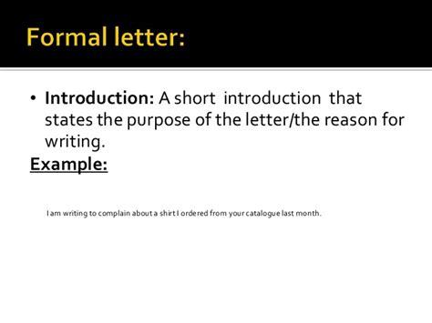 Informal Business Introduction Letter formal and informal letter