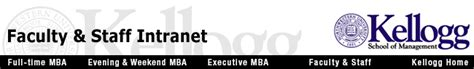 Northwestern Kellogg Part Time Mba Intranet by Kellogg Faculty Staff Intranet