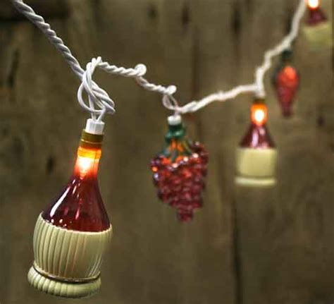 Touch Of Italy Grape And Wine Bottle Electric String Electric String Lights