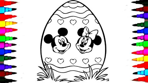 mickey mouse coloring pages youtube giant easter egg coloring pages disney junior mickey