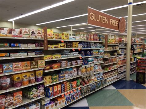 sections of a grocery store gluten free supermarkets