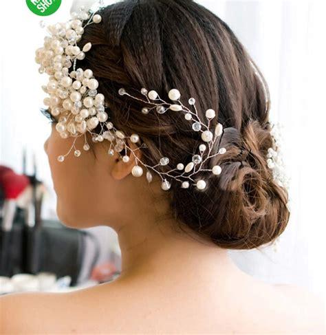 Pearl Wedding Hair Accessories Uk by Bridal Headband Bridal Headpiece Pearl Wedding
