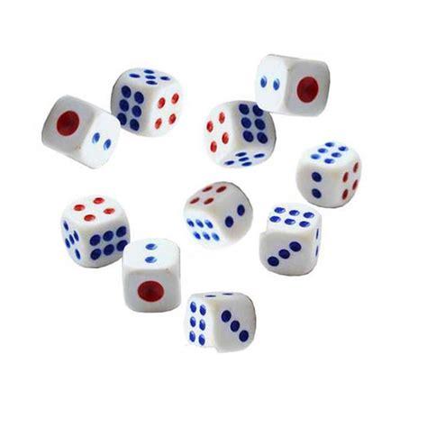 Dadu Dice Plastik 1 X 1 Mm 10pcs standard plastic 10mm white dice die b2c shop