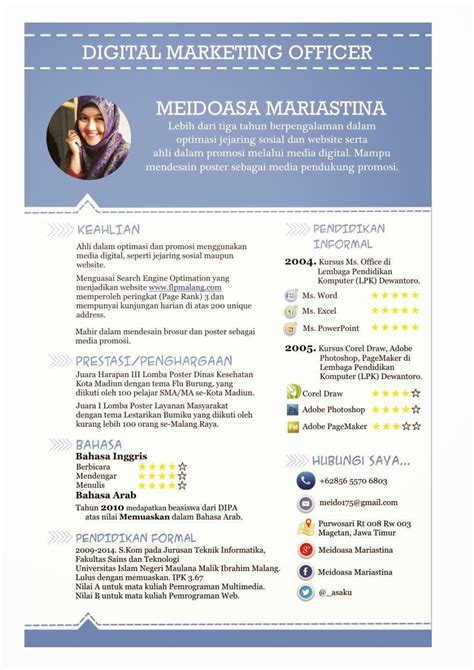 Contoh Cv Menarik by Contoh Curriculum Vitae Menarik Projects To Try
