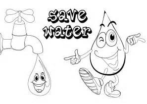 water coloring book free coloring pages of save the water