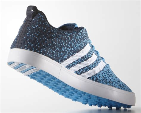 adidas adicross primeknit golf shoes cyan white mineral blue discount prices for golf equipment