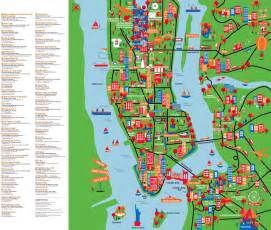 A Map Of New York City by Large Detailed New York Tourist Attractions Map New York