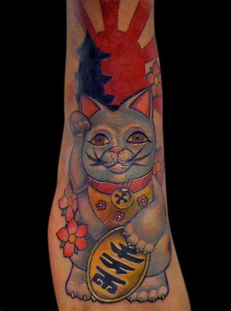 tattoo cat lucky lucky cat tattoo by michaelbrito on deviantart