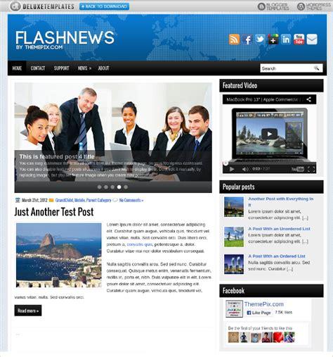 news flash template 15 creative flash website themes templates free