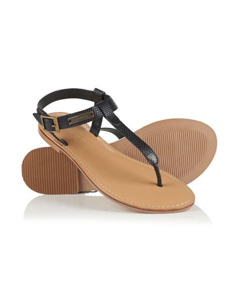 Superdry Sandal new womens superdry bondi sandals black ebay