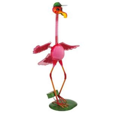 eglo outdoor solar flamingo pink led light 47435 the