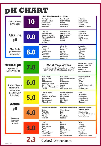 ph chart of alkaline and acidic foods