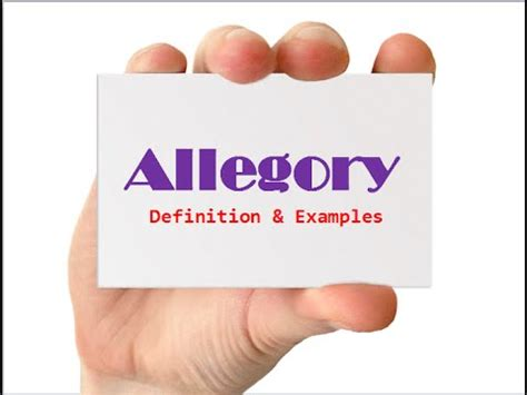 Definition For Allegory Definition Exles