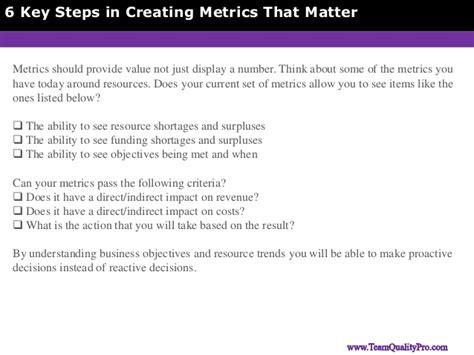 creating matter 6 key steps in creating metrics that matter