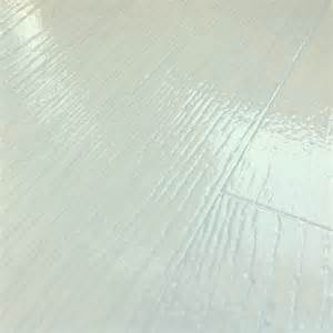 White Vinyl Plank Flooring Cosystep Glossy White Oak Plank 0759 Cushioned Vinyl Flooring Factory Direct Flooring