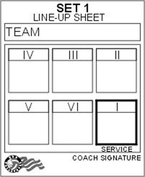 printable volleyball worksheets usa volleyball line up sheet volleyball pinterest