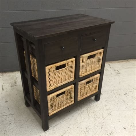 Basket Dresser Drawers by Dresser With Two Drawers And Baskets Nadeau Nashville