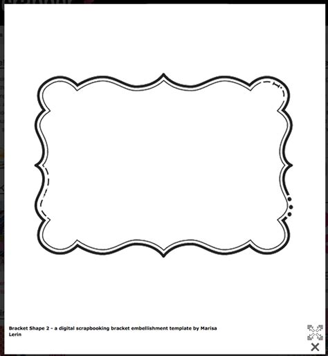 template for shapes bracket shape free templates cards envelopes