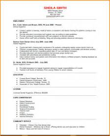 Dental Resume Format by 9 Dental Hygienist Resume Sles Paradochart