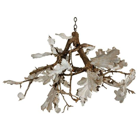 Twig Chandelier Plaster And Twig Chandelier At 1stdibs