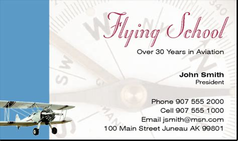 aviation business card template aviation business cards exles images card design and