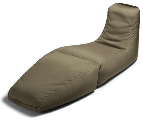 bean bag chaise lounge prado outdoor bean bag lounger taupe contemporary