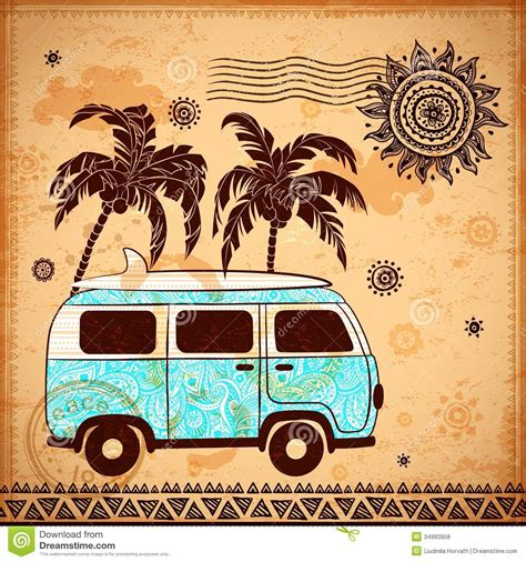 retro travel with vintage background stock vector