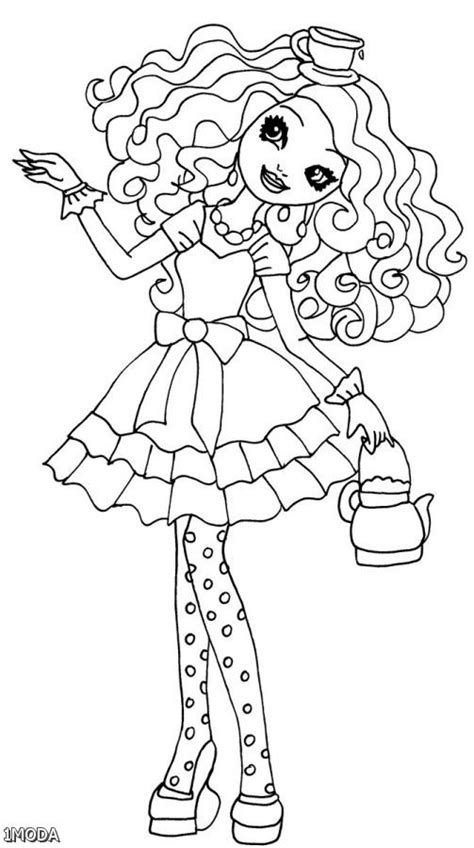 coloring page ever after high maddie hatter ever after high coloring pages coloring pages