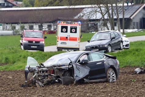 tesla road vehicle tesla model s gets destroyed on a country road vehicles