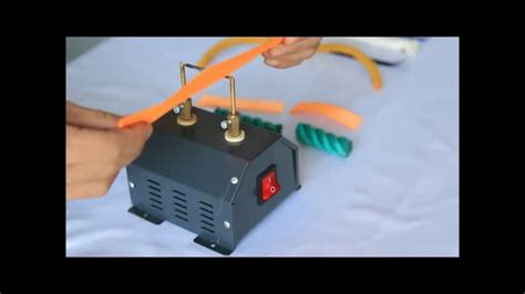 bench mount hot knife hc350 bench mounted hot knife wire cutter for rope polystyrene styrofoam youtube