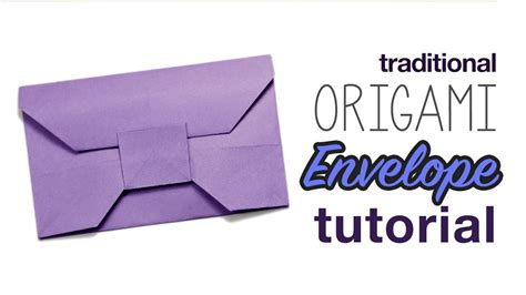 how to make an envelope with paper traditional origami envelope tutorial youtube
