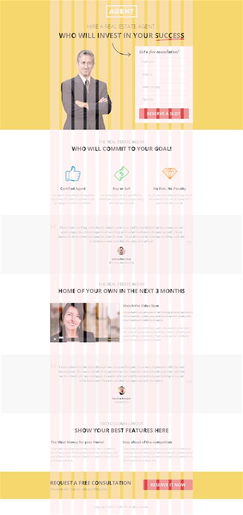 multipurpose landing page template agents