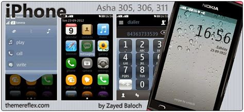 nokia asha 311 new latest themes tema iphone para nokia asha 305 306 308 309 310 311